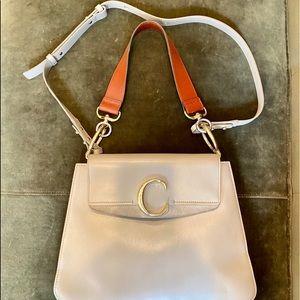 Chloe Medium C Leather Shoulder Bag